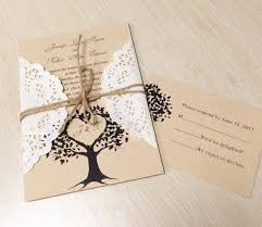 Diy Lace Wedding Invitations For Country Rustic Ideas