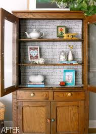Jazzing up the pie safe with Fabric Loft} C R A F T