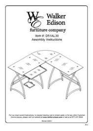 Walker Edison 3 Piece Contemporary Desk Instructions by Walker Edison L Shaped Glass Computer Desk Multiple Colors