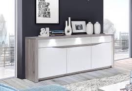sideboard kommode sandeiche weiß hochglanz inkl beleuchtung