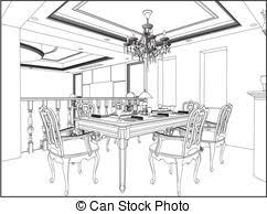 Dining room Clip Art and Stock Illustrations 5 032 Dining room