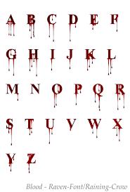 Blood Alphabet Fonts