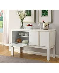 Furniture Of America CM3176WH SV Lamia I White High Gloss Server Dining Room Buffet