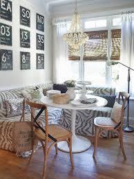 Corner Breakfast Nook Set Grey