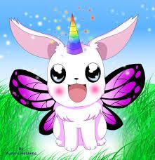 Rainbow Unicorn Fairy Bunny By FairyAurora