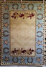 Western Country Southwest Rustic Cowboy Horse Star Lodge Area Rugs Carpets