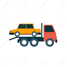 100 Tow Truck From Cars Driven Flat Design Illustration Royalty Free