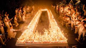 Video Record blasted as 72 585 candles burn on one birthday cake
