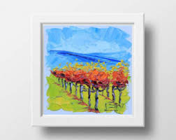 Wine And Grapes Kitchen Decor by Grapes Oil Painting Etsy