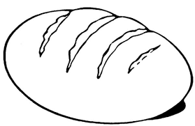 Pin Bread Roll Clipart Coloring Page 5