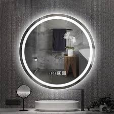 wand montiert led bad spiegel anti fog spiegel bluetooth smart spiegel bad runde leucht spiegel