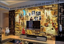 3d Room Wallpaper Custom Mural Non Woven After Old Movie Posters Sofa Setting Wall Brick