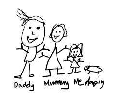 Personalised Our Family Have Your Own Drawing Engraved Christmas Decoration