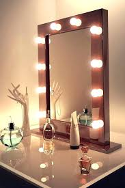 wall makeup mirror with lights stylish ideas lighted bathroom