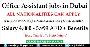 fice Assistant jobs in Dubai UAE
