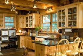 Log Cabin Kitchen Images by Lifeline Interior Light Natural Log Home Stain And Perma