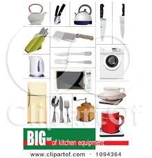 Clipart Kitchen Appliances And Items