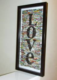 Anniversary Wedding Modern Wall Art Recycled Rolled Paper