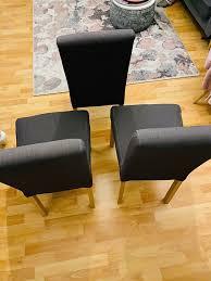 esszimmer stühle in dunkelgrau mit strukturierte edle stoff