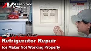 refrigerator maker water dispenser not working repair