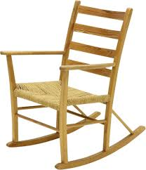 Vintage French Pine And Sisal Rocking Chair 1950 - Design Market
