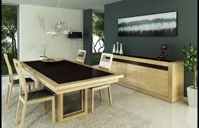 salle à manger design contemporaine chêne massif céramique