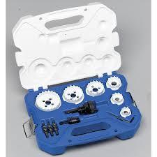 Tile Hole Saw Kit by Shop Lenox 15 Piece Carbide Tipped Hole Saw Kit At Lowes Com