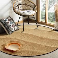 kleine muschel auf goldenen sand muster teppiche und teppiche für home wohnzimmer runden teppich für kinder zimmer nicht slip