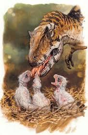 A Carnotaurus Feeding His Little Babies Art Paleoart Dinosaur Jurassicpark Jurassicworld