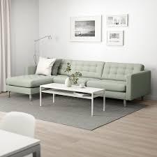 landskrona 4er sofa mit récamiere gunnared hellgrün metall