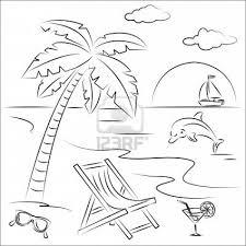 Dibujo Verano Verao Beach Coloring Pages Beach House
