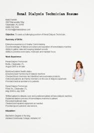 Download Free Resume Samples Renal Dialysis Technician Sample Rh Trainedbychamps Com Patient Care Hemodialysis Nurse