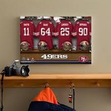 Personalized San Francisco 49ers NFL Locker Room Canvas Print