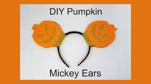 Mickey Mouse Pumpkin Designs by Diy Pumpkin Mickey Mouse Ears Youtube