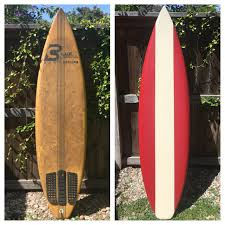 Decorative Surfboard With Shark Bite by Before And After Photo Of An Old Used Surfboard Brought To Life