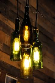 4 Light Chandelier Recycled Wine Bottle Pendant Lamp Hanging 32900