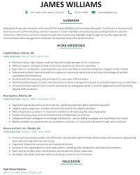 Furniture Sales Resume Sample