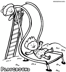 Playground Clipart Coloring Page 7