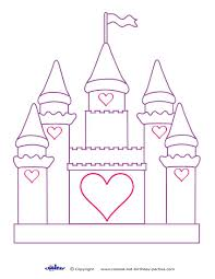 Cinderella Castle Coloring Pages Printable Free Sand Sandcastle Interest At Best Of