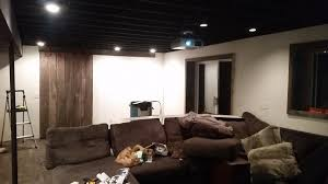 Exposed Basement Ceiling Lighting Ideas by Bold Design Dry Fall Paint Basement Ceiling Inspiration Idea