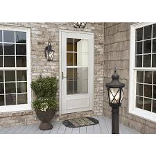 shop allen roth castine 23 75 in h rubbed bronze outdoor wall