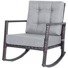 Cushioned Rattan Rocker Chair Rocking Armchair Chair Outdoor Patio Glider  Lounge Wicker Chair Furniture With Cushion (Grey Cushion) Intertional Caravan Valencia Resin Wicker Steel Frame Double Glider Chair Details About 2seat Sling Tan Bench Swing Outdoor Patio Porch Rocker Loveseat Jackson Gliders Settees The Amish Craftsmen Guild Ii Oakland Living Lakeville Cast Alinum With Cushion Fniture Cool For Your Ideas Patio Crosley Metal And Home Winston Or Giantex Textilene And Stable For Backyardbeside Poollawn Lounge Garden Rocking Luxcraft Poly 4 Classic High Back