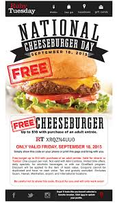 RUBY TUESDAY: #FREE CHEESEBURGER FRIDAY 9/18 ON NATIONAL ... 14 Ruby Tuesday Coupons Promo Coupon Codes Updates Southwest Airline Coupon Codes 2018 Distribution Jobs Uber Code Existing Users 2019 Good Buy Romantic Gift For Her Niagara Falls Souvenir C 1906 Ruby Red Flash Glass Shot Gagement Ring Holder Feast Your Eyes On This Weeks Brandnew Savvy Spending Tuesdays B1g1 Free Burger Tuesdaycom Coupons Brand Sale Food Network 15 Khaugideals Hyderabad Code Tuesday Morning Target Desk