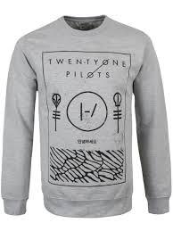 twenty one pilots thin line box men u0027s grey sweater buy online at