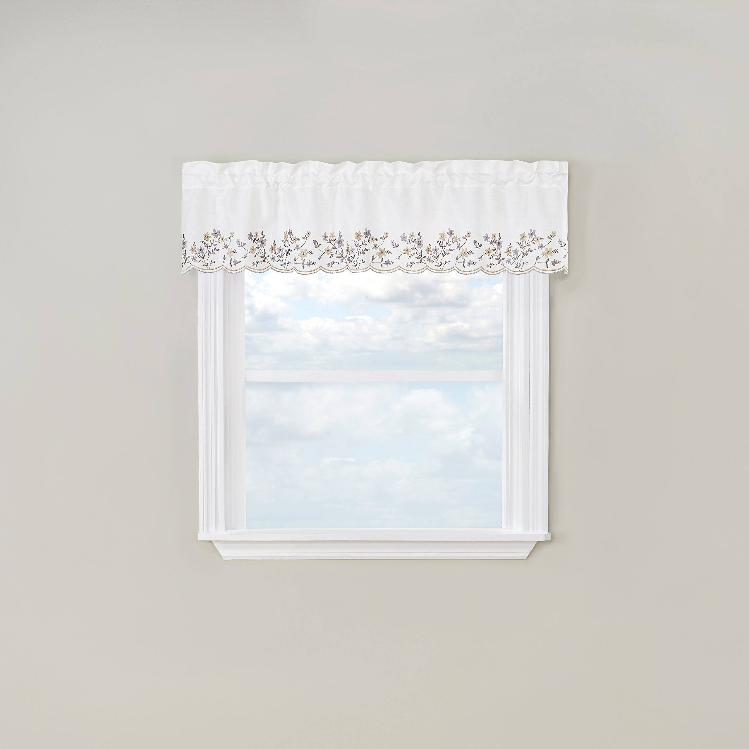 Bloom Embroidered Valance Curtain