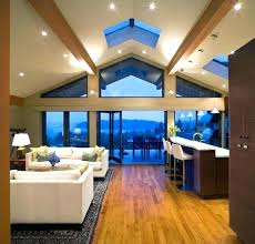 Vaulted Ceiling Living Room Lighting Full Image