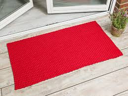 pad outdoor teppich uni rot 72x132 matte fussmatte pad concept design badematte ebay