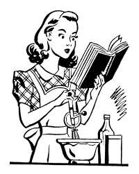 Vintage Woman Cooking Clipart Clipartbarn within Woman Cooking Clipart Black And White Hd