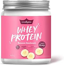 gymqueen whey protein pulver banane 500g protein shake für