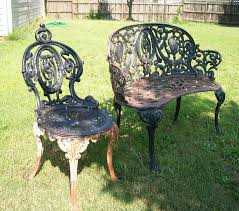 I Ran Across This Old Cast Iron Chair And Love Seat At A Garage Sale ... Clearance Homebase Outdoor Rh Fniture For Sale Patio Prices Brands Review Sturdy Metal Wooden Back Industrial Ding Armchair Shakunt Vintage Crusader School Desk And Chair Gray Small Child Size 1st Grade Home Craft Table Old Panosporch Chairs At Lowescom 12 Best Haing Egg To Buy In 2019 Indoor A Guide Buying Hardscaping 101 How Care Wood Gardenista Ruced 25 Beautiful Old Heavy Metal Park Bench Ends Olive Branch Ppu Folding Bag Cushioned Porch Glidersold Glidersvintage